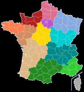 FFA Carte Ligues Régionales d'Airsoft